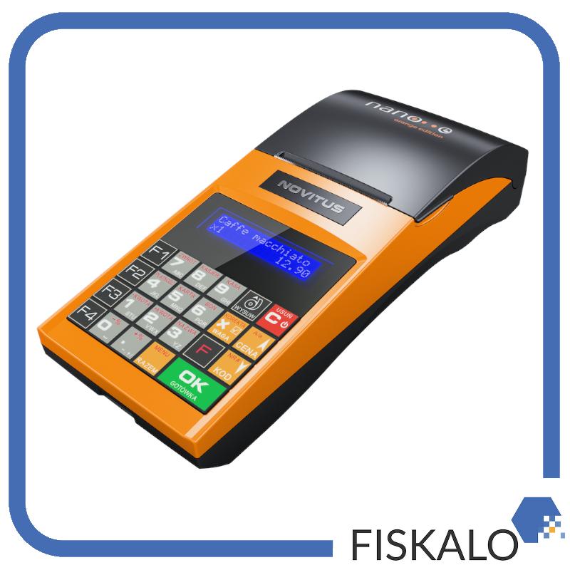 Kasa fiskalna NOVITUS Nano E Orange Edition Limited