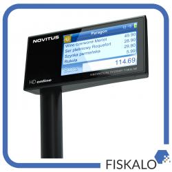 Drukarka fiskalna NOVITUS HD Online z wyświetlaczem wolnostojącym