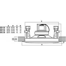 Głośnik sufitowy PA EDL-26